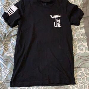 Nine-line tee shirt
